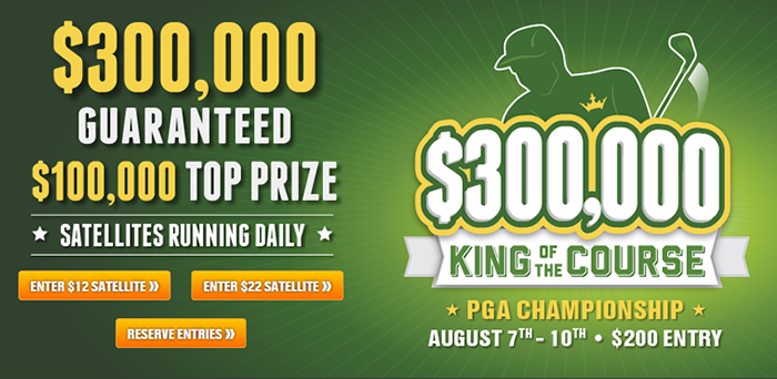 Draft Kings Promo PGA King of the Course