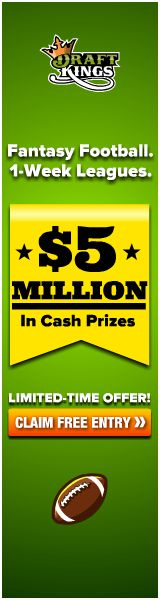 DraftKings $5 Million In Cash Prizes Opening NFL Weekend 2014